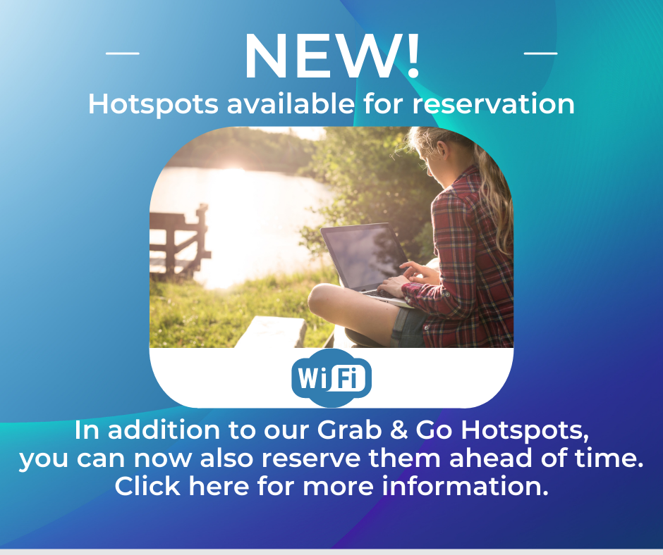 Hotspots available for reservation.