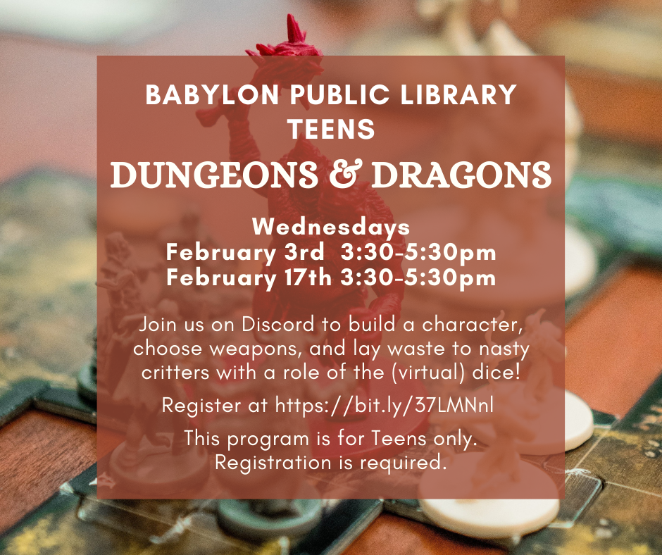 Dungeons & Dragons FEBRUARY FB Flyer